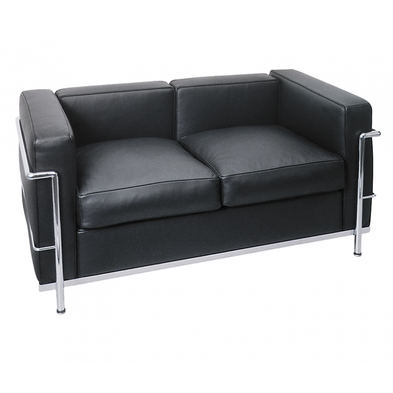 ambiance zu vermietenle corbusier 2er sofa lc2. Black Bedroom Furniture Sets. Home Design Ideas